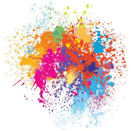 Ilustración de Colorful splash background - Imagen libre de derechos