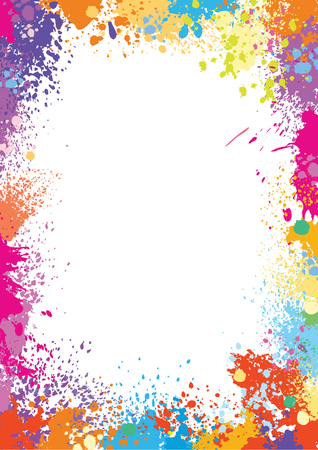 Illustration for Frame template made of paint stains - Royalty Free Image