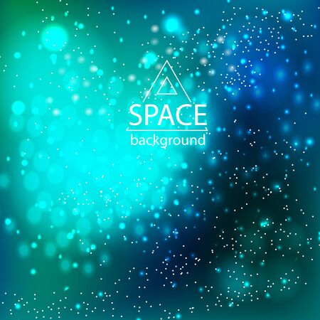 Illustration pour Abstract space galaxy background with cosmic light and stars - image libre de droit