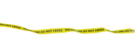 Photo for Police Line Do Not Cross, White Backgrounds, 3D Render - Royalty Free Image
