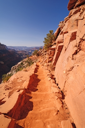 The South Kaibab Trail in the Grand Canyon