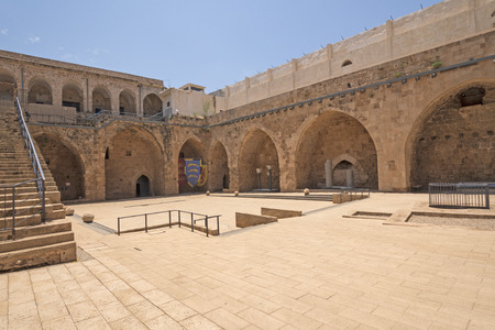 Main Courtyard of an old Fortress in Acre, Asrael