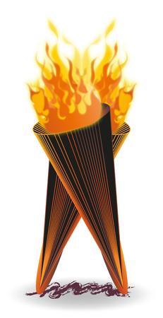 Torche Flammes Feux.