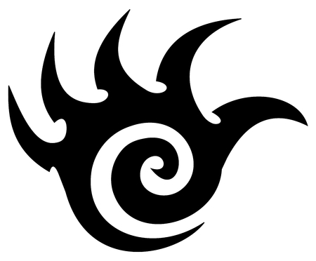 Illustration pour tattoo of a weapon of science fiction blade - image libre de droit