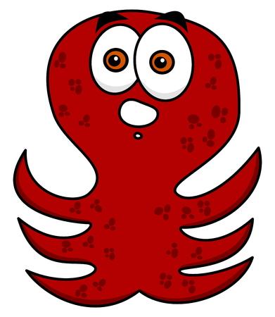 Illustration pour octopus amazed standing - image libre de droit