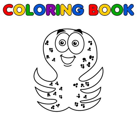 Illustration pour octopus merry standing for coloring - image libre de droit
