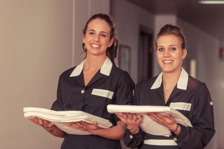Two Chambermaid in Hotel