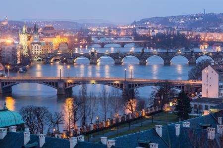 Prague at Twilight, view of