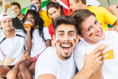 German Supporters at Stadium