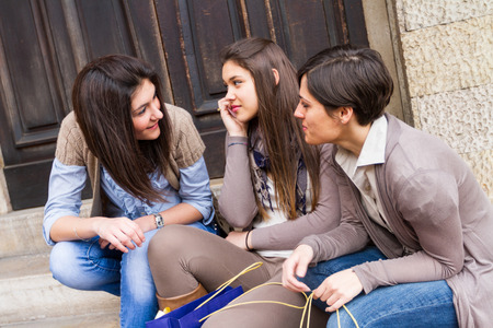 Photo for Group of Women Talking on Mobile Phone - Royalty Free Image