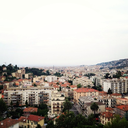 Superb view of nice France