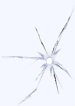 broken glass hole window fracture