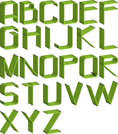 alphabet thin green