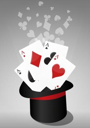 Magic Aces Illustration