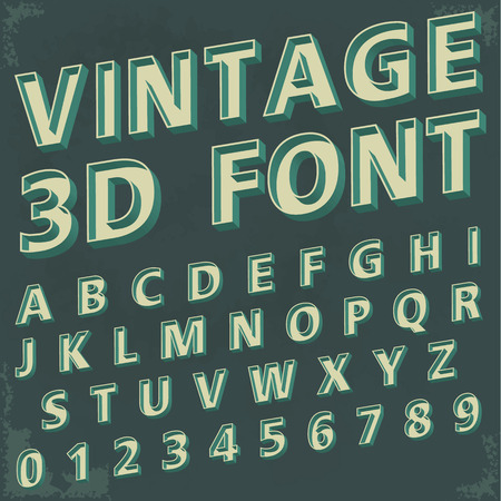alphabetic font and numbers