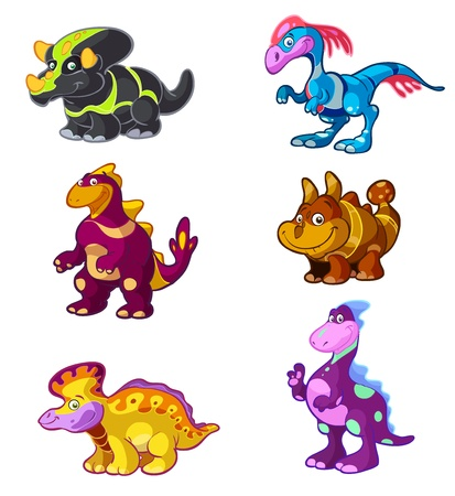 a collection of cute dino's