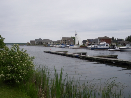 A restful view of a Lake Ontario marina