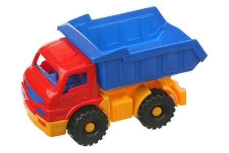 Foto de Toy truck is isolated on a white background  - Imagen libre de derechos