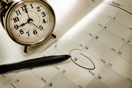 Photo pour planner book and a pen - image libre de droit