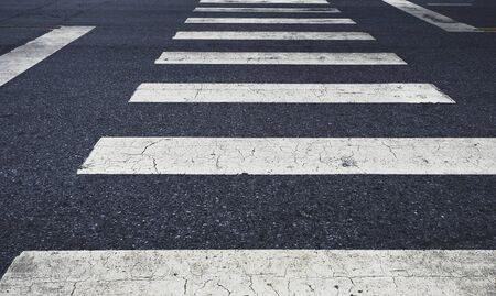 Photo for crosswalk lines for pedestrian on the road background - Royalty Free Image