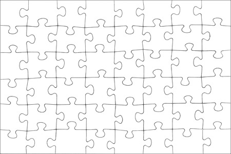 Blank white puzzle texture.