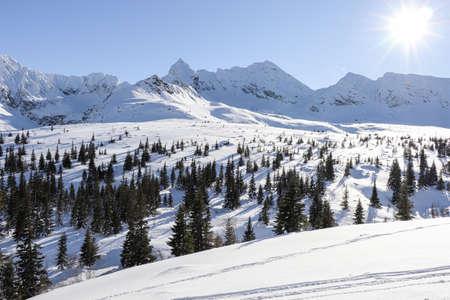 Photo pour Winter landscape from Polish mountains - image libre de droit
