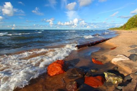 Lake Superior Beach in Michigan