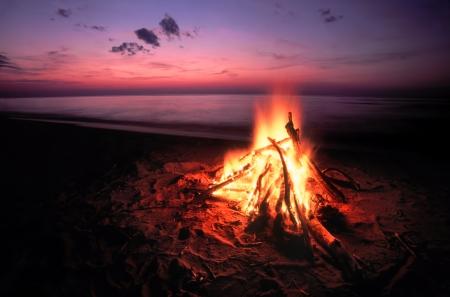 Beach Campfire on Lake Superior