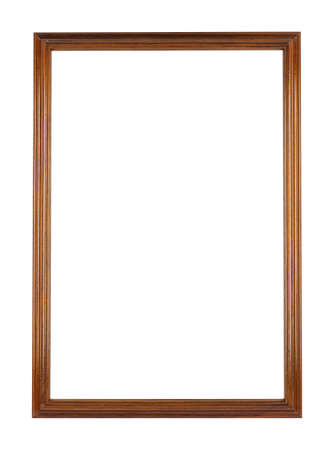 Photo pour A rectangular wooden frame for painting or picture isolated on a white background - image libre de droit