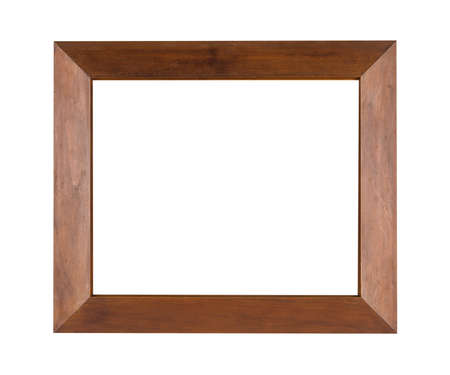 Photo pour A square wooden frame for painting or picture isolated on a white background - image libre de droit