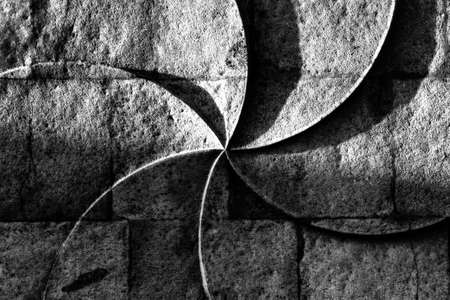 Photo pour Ancient wall engraving of eternity sign on a stone wall of an Armenian Church - image libre de droit