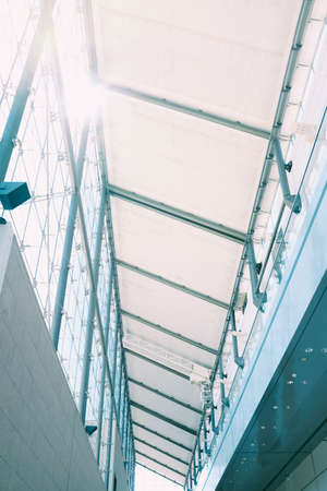 Photo pour A vertical shot of the inside of a building with interesting textures - image libre de droit