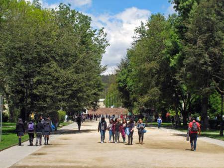 CONCEPCION, CHILE - Nov 03, 2017: vistas del exterior e interior de la campus principal de la universidad