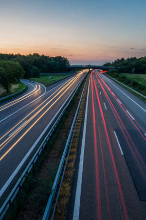 Photo for German Highway at Sunset - Royalty Free Image