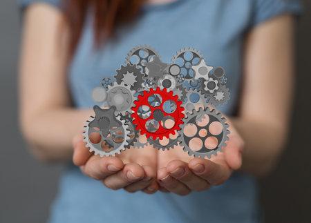 Photo pour gear Technology setting concept background - image libre de droit