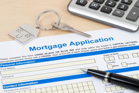 Photo pour Mortgage application form, financial concept - image libre de droit