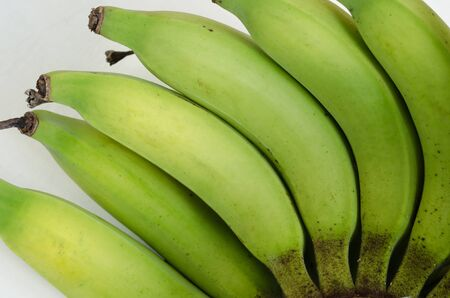 Photo pour Part of Organic Banana Isolated On White Background for Conceptural Graphic Used. - image libre de droit