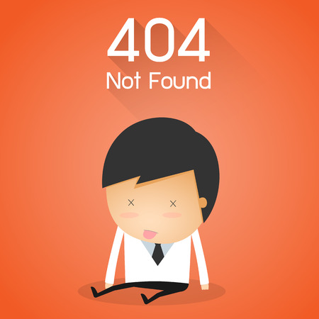 404 Error Page not found. businessman fail concept
