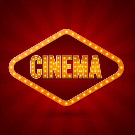 Illustration pour Cinema. Banner Lighting. Vector illustration - image libre de droit