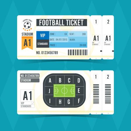 Illustration for Football Ticket Modern Design. Vector illustration - Royalty Free Image