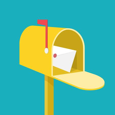 Illustration pour Mail box - image libre de droit