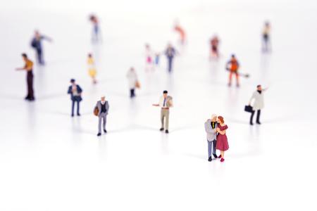 Crowd of people in miniature people