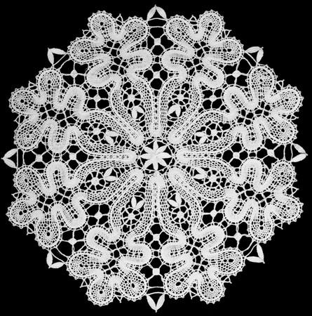 Photo pour white doily with lace top view - image libre de droit