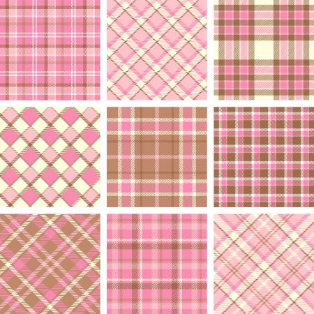 Pink plaid patterns