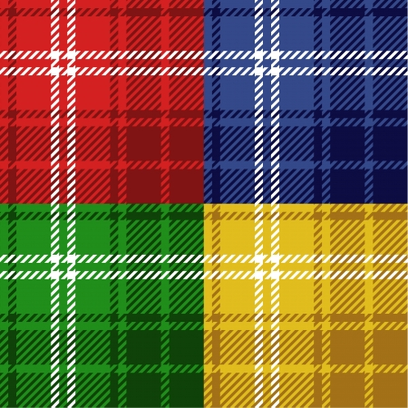 Seamless tartans set