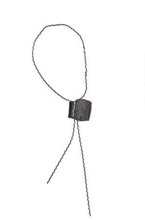 metal seal with wire on white background