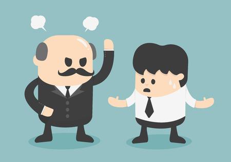 Illustration pour angry boss concept - image libre de droit