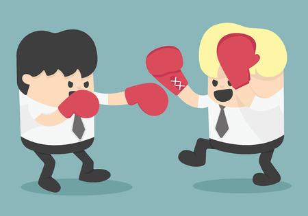 Illustration pour businessman fighting - image libre de droit