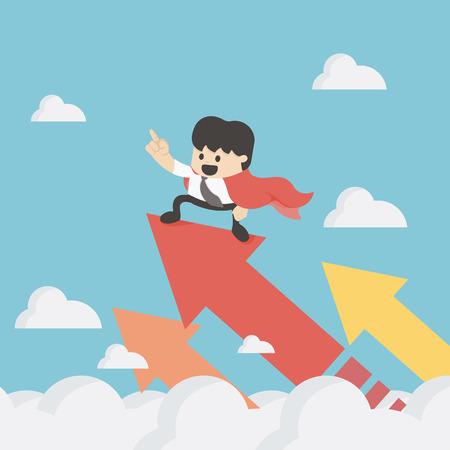 Super Business Growth Concept