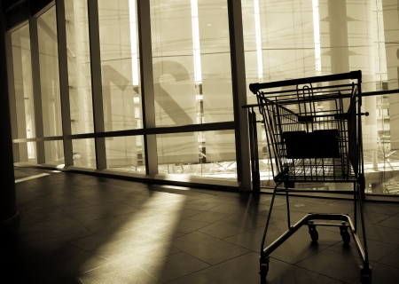 The shopping cart is abandoned after usage.
